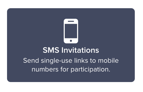 How to send survey through smstext message sogosurvey help select sms invitations under the offline or via smstext message column and proceed by clicking on continue stopboris Choice Image