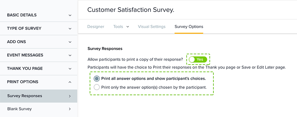 Preview Your Survey. Once The Above Steps Have Been Completed, A U0027Print My  Responsesu0027 Option Will Be Displayed On The Participation Page.  Printable Surveys