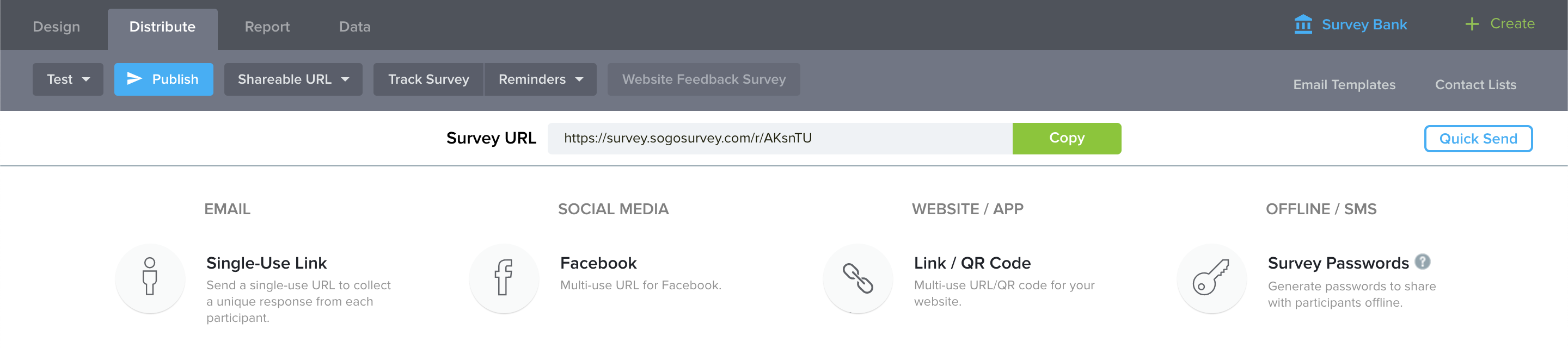 How to Generate Survey Public Link | SoGoSurvey