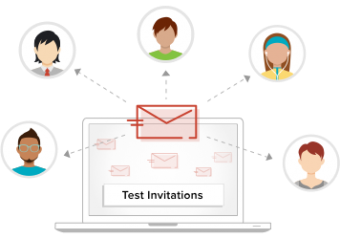 Send test survey invitation