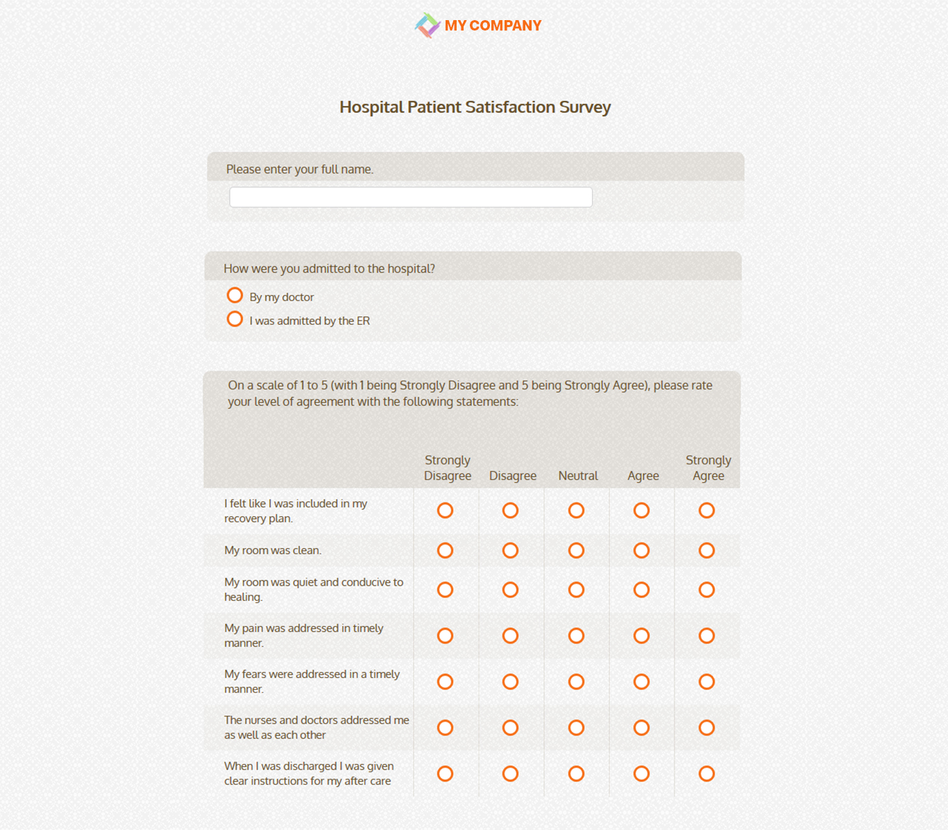 hospital patient satisfaction survey sogosurvey online survey tool