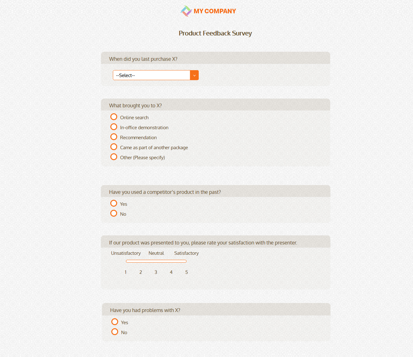 Product Feedback Survey Template 19 Questions Sogosurvey